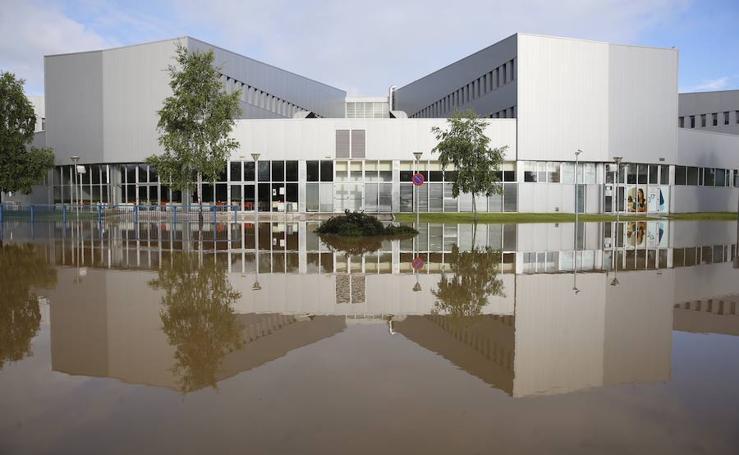 Las imágenes que dejan las inundaciones en Gijón