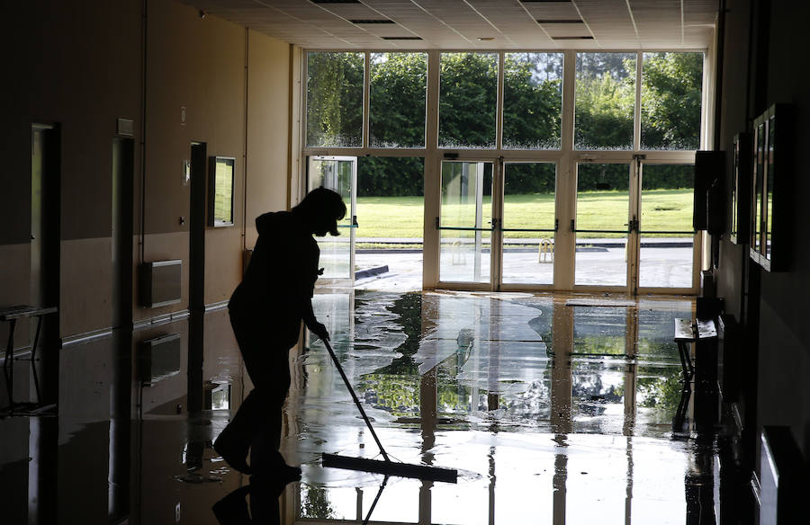 Daños en la Escuela Politécnica de Ingeniería de Gijón por las inundaciones