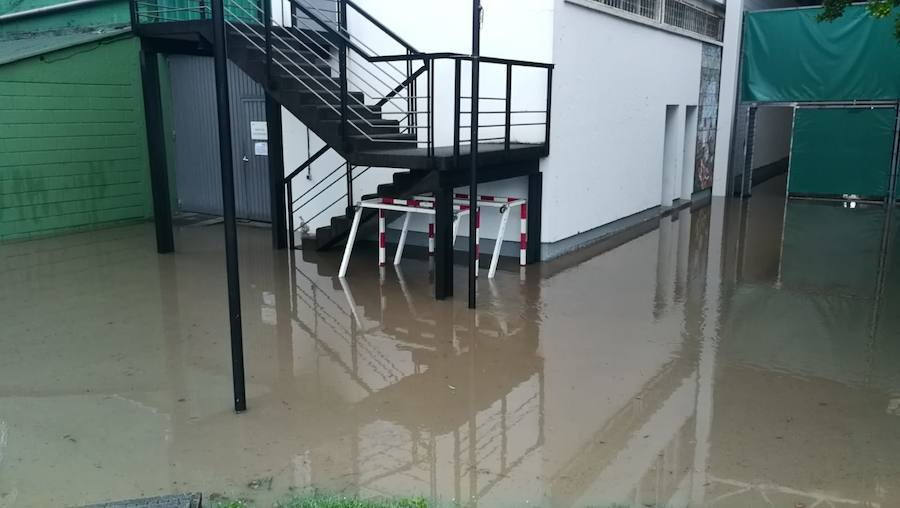 Las instalaciones del Grupo Covadonga, afectadas por el agua