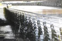 Los efectos de las inundaciones en el río Piles