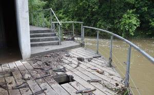La finca La Isla, cerrada por las inundaciones