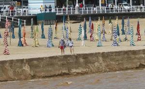 San Lorenzo, una de las zonas de Gijón afectadas por el agua