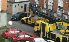 Los Bomberos retiran un enjambre del tejado de un edificio en Versalles