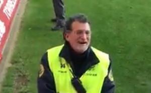 El doble de Mariano Rajoy se cuela en el Numancia - Valladolid