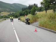 Muere un motorista en un accidente de tráfico en Tineo