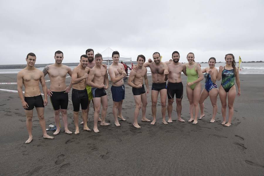 Pruebas para la selección de socorristas para las playas asturianas