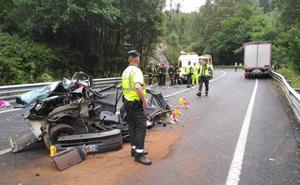 Cuatro muertos en una trágica jornada para las carreteras asturianas