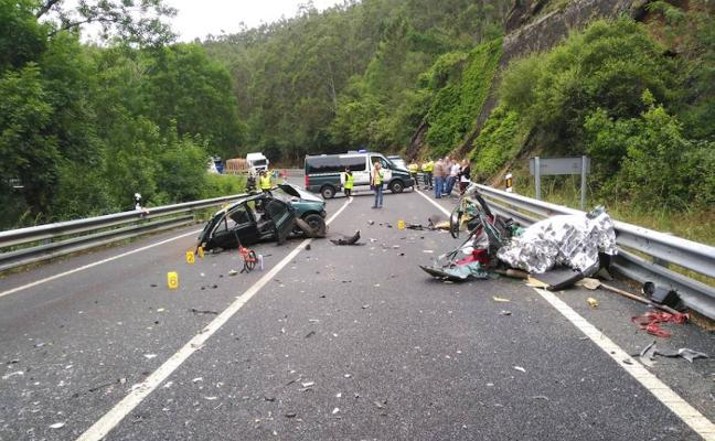 Cuatro fallecidos en dos accidentes de tráfico en el occidente en un día negro