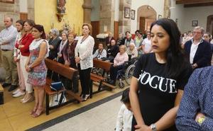 Misa y procesión en Molleda