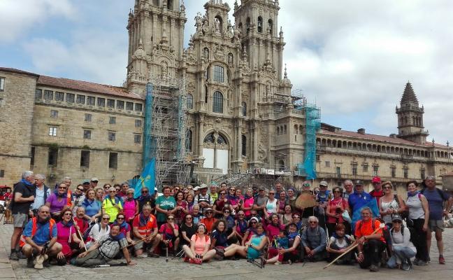 Amigos del Camino de Siero, Noreña y Sariego llegan a Santiago