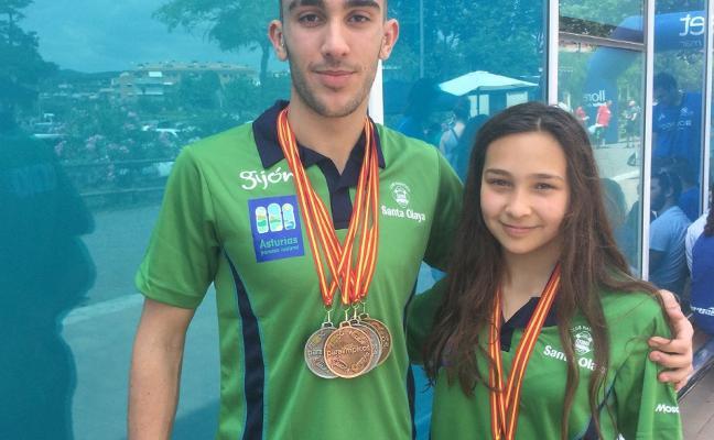 Vaquero y Sandra Díaz logran siete preseas en Lloret de Mar