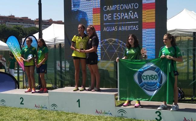 El Santa Olaya se sube al podio en el nacional de aguas abiertas en Sevilla