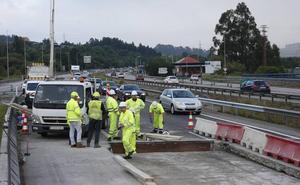 Las obras en la 'Y' provocan retenciones kilométricas en sentido Gijón y Oviedo