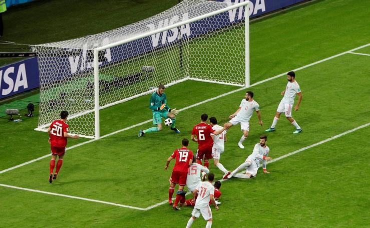 Gol anulado a Irán ante España