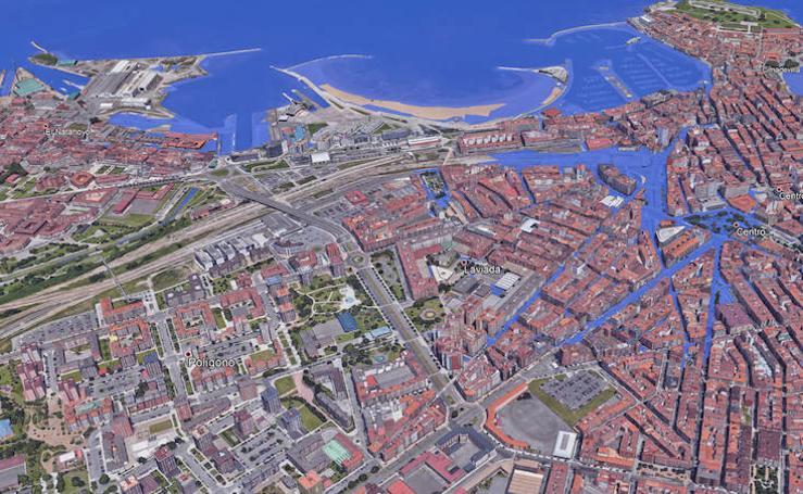 Las zonas de Asturias que se inundarían si subiera el nivel del mar
