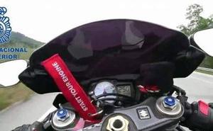 Detenido el hombre que se grabó a 250 km/h con su moto