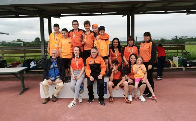 Arcoastur logra once medallas en los Juegos Deportivos