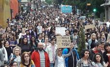 Oviedo se manifiesta contra la libertad provisional de 'La Manada'
