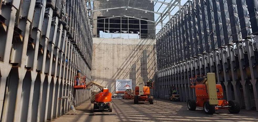 Problemas de suministro paralizan parte de la obra en las baterías de cok de Arcelor