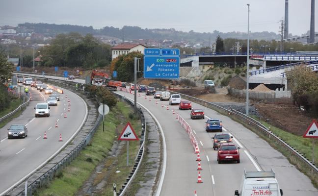 La entrada a Avilés desde la autovía se cortará al tráfico hasta las diez de la noche
