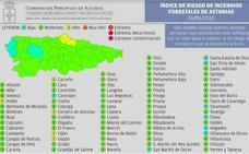 Gijón, Carreño, Gozón, Corvera y Avilés estarán este martes en riesgo 'alto' por incendios forestales