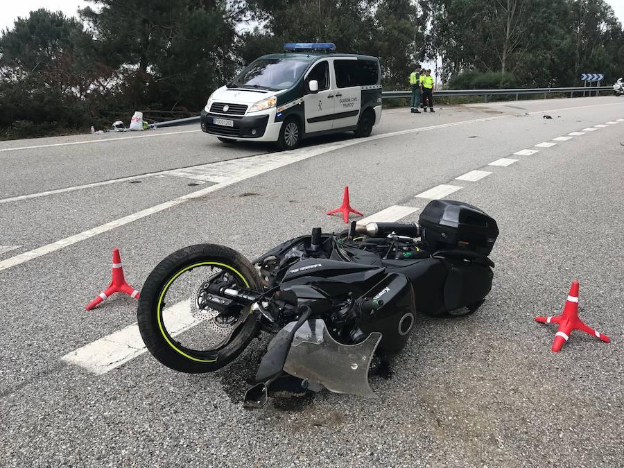 Fallece un avilesino en un accidente de moto en Pontevedra