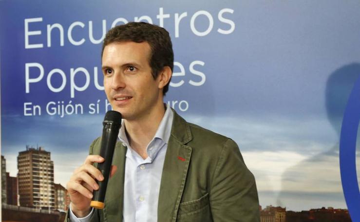 Pablo Casado llega a Asturias