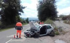 Un herido en un aparatoso accidente en Villaviciosa
