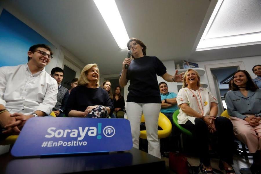 Soraya Sáenz de Santamaría llega a Asturias