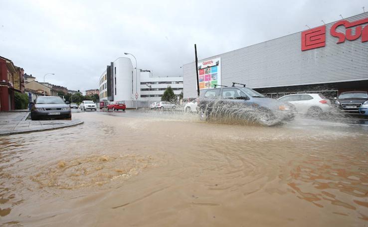Las inundaciones que dejan las lluvias en Asturias
