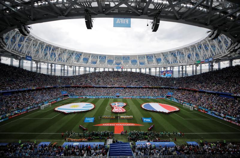 Francia - Uruguay, en imágenes