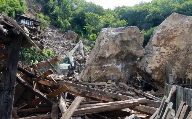 Los trabajos por el argayo de La Cortina costarán un mínimo de 350.000 euros