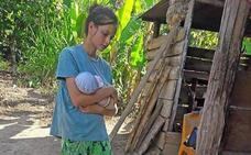 «Patricia estaba delgadísima y con un bebé en brazos al que estaban devorando los mosquitos»