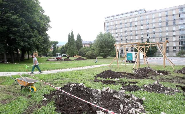 Regresan las obras al parque del Truébano