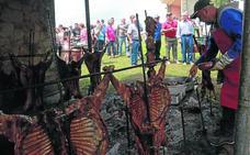 Más de 40 corderos a la estaca, en las fiestas de La Teyerona