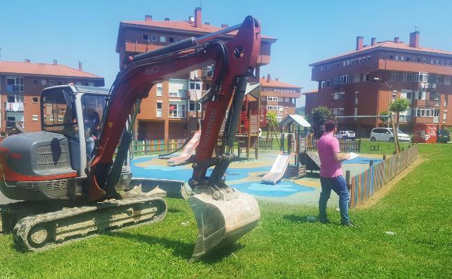 El Ayuntamiento inicia la obra de ampliación del parque de Los Campos