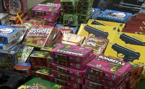 Retiradas más de 50 armas y artículos pirotécnicos en la Semana Negra