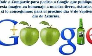 Los asturianos piden a Google que haga un homenaje a Asturias