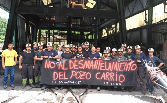 La actividad en el pozo Carrio quedó parada dos turnos por una huelga