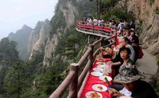 Un banquete de vértigo en China