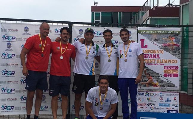 Juan Oriyés y Sara Ouzande logran la medalla de plata en los Campeonatos de España de pista