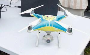 Tráfico prueba en Asturias la eficacia de los drones para vigilar las carreteras