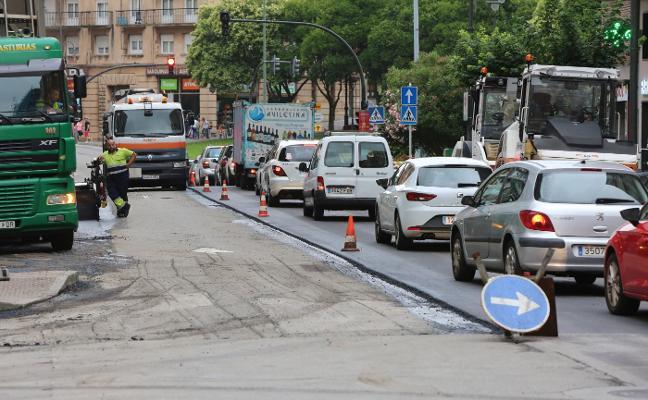 El plan de asfaltado se centra esta semana en calles de El Quirinal y La Magdalena