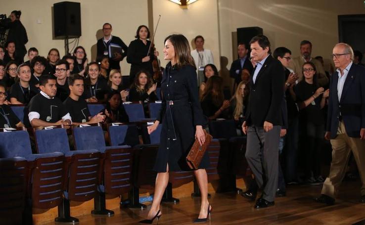 Doña Letizia preside la apertura de los cursos de música de la Fundación Princesa