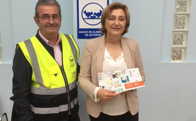 Delia Losa recibe la insignia de la Fundación Banco de Alimentos