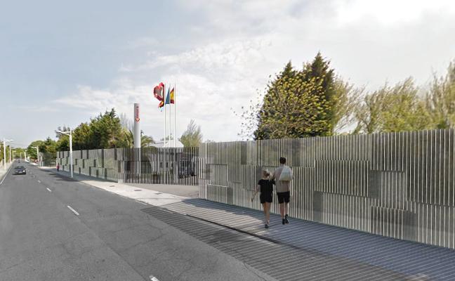 La Cámara renovará con pletinas de acero 200 metros de su fachada en Piles-Infanzón