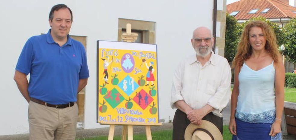 José Ramón García 'Monchu' pinta el cartel de las fiestas del Portal
