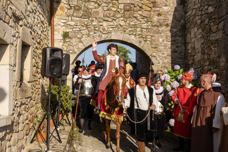 Pimiango recrea la visita del futuro rey Carlos V