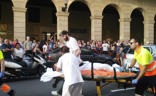 Herido un motorista tras embestir a un coche en Marqués de San Esteban