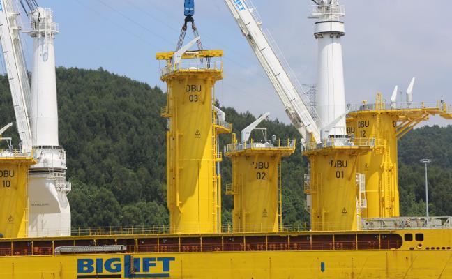 Concluye el traslado de las piezas para el parque eólico del mar del Norte